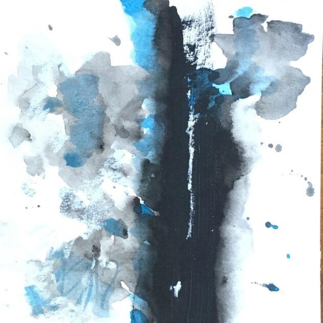 Peinture à l'acrylique - Forme de relief glaciaire