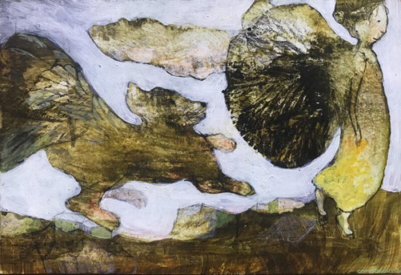 un chien gambade derrière un ange en apesanteur, Hélène Paré