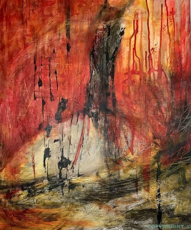 art-peinture-acrylique-tableau-abstraction-Hélène Patenaude
