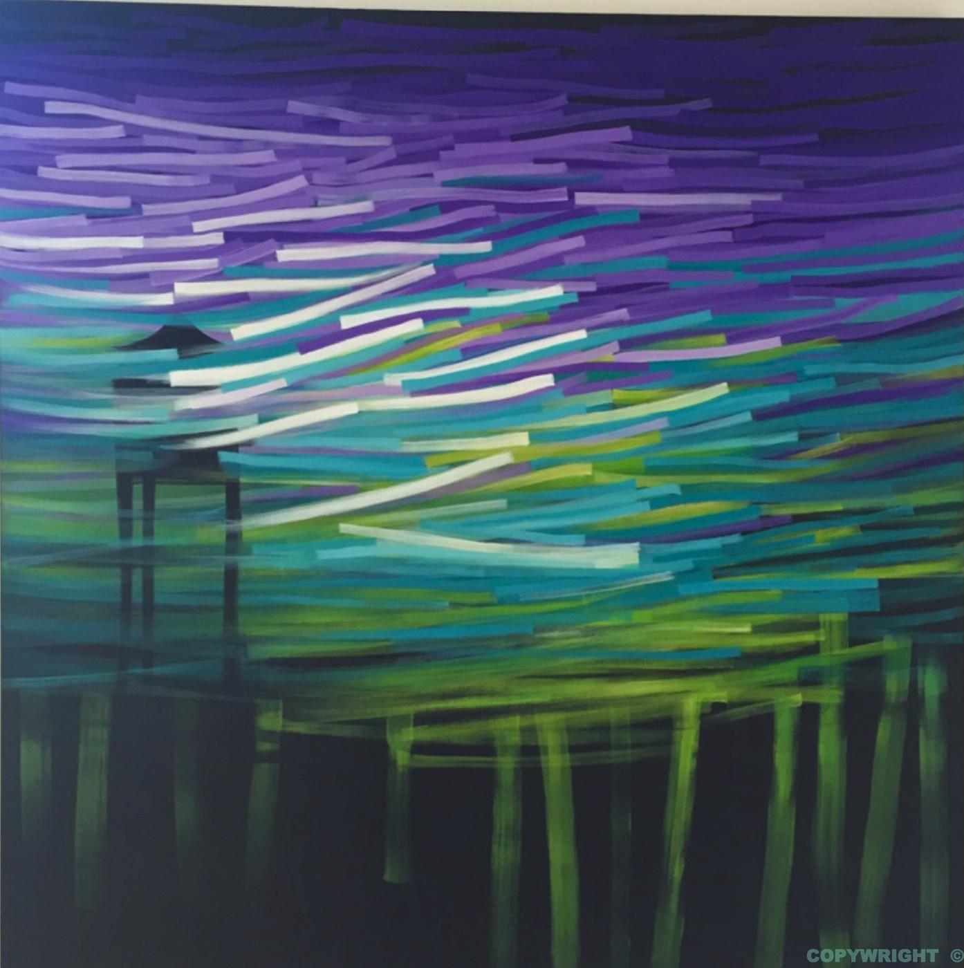 art-peinture- abstraction-tableau-tourbillon neigeux luttant contre la force de la noirceur-Nathalie Noël