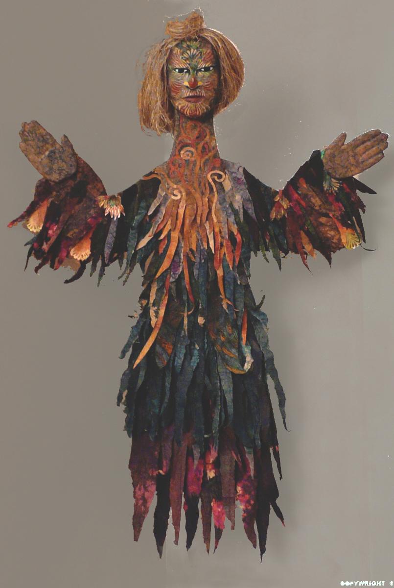 femme de papier aux bras étendus, sculpture, Hélène Paré