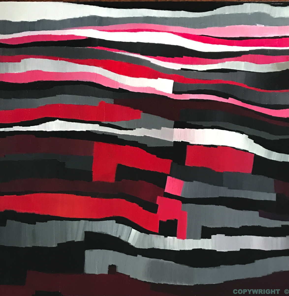 art-peinture- abstraction-tableau-zébrures horizontales - Nathalie Noël