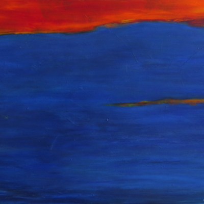 art-peinture- abstraction-tableau-début d'une nouvelle vie - lumière intense - Lise Brassard