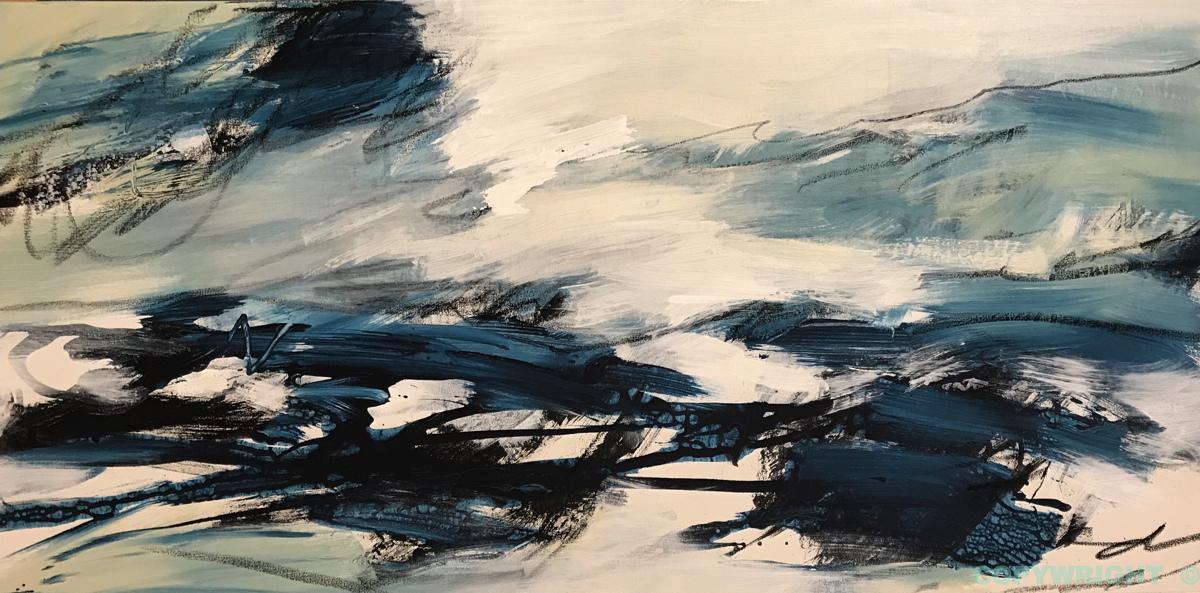 art-peinture-acrylique-pastel-abstraction-tableau-gestuel-Nathalie Noël