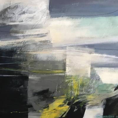 art-peinture- abstraction-tableau-un monde se fragmente en plaques-Nathalie Noël