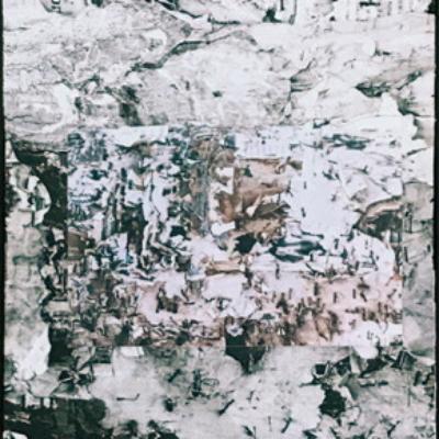 abstrait, photos-collages-zone de montagne - grotte - glacier - univers imaginaire , Hélène Paré
