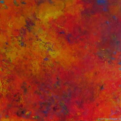 art-peinture- abstraction-tableau-on se dépouille, place à la nouveauté - un nuage en fusion - Lise Brassard