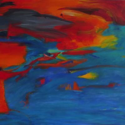 art-peinture- abstraction-tableau-un côté ludique, enfantin - Lise Brassard